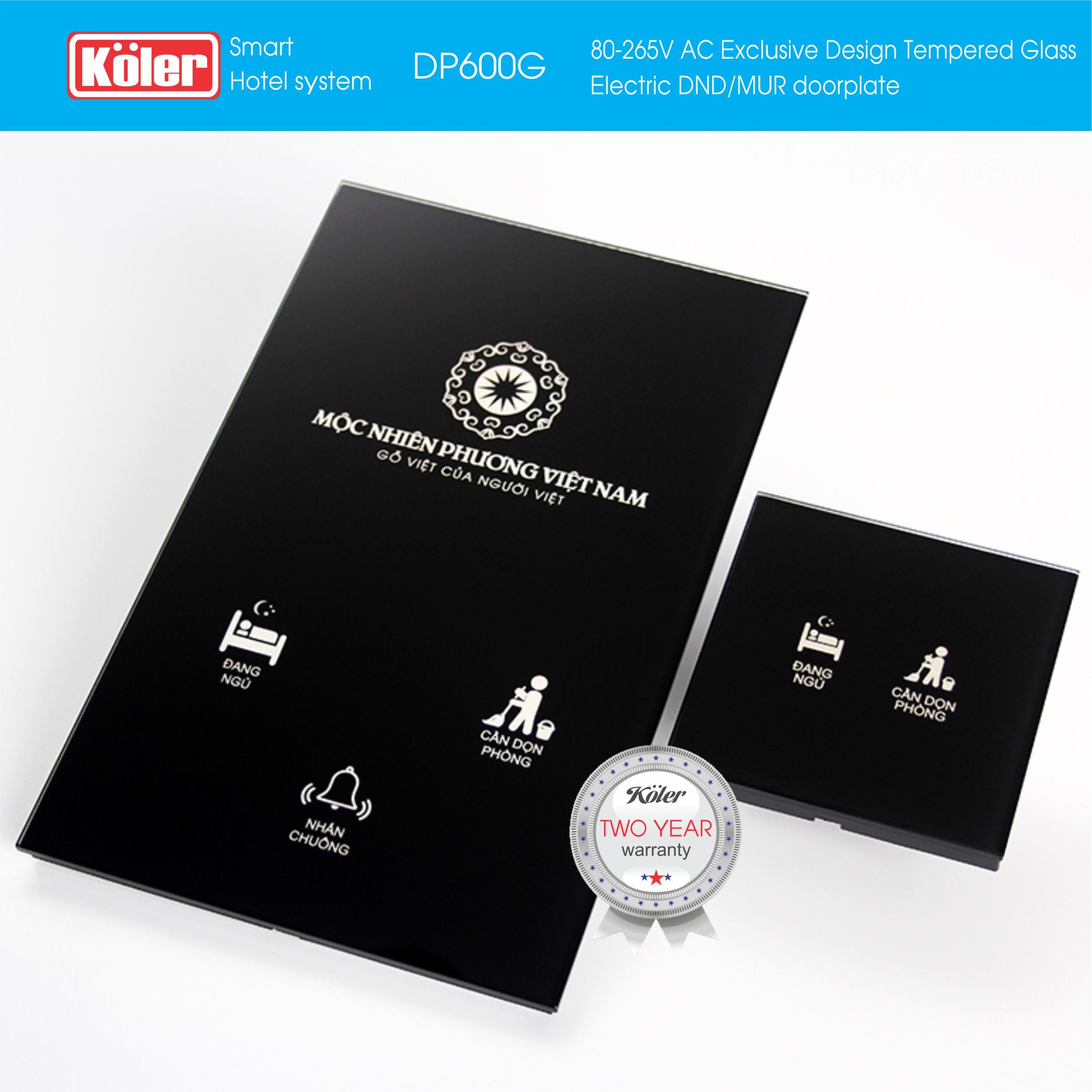 Doorplate Temper Glass LED DP700G
