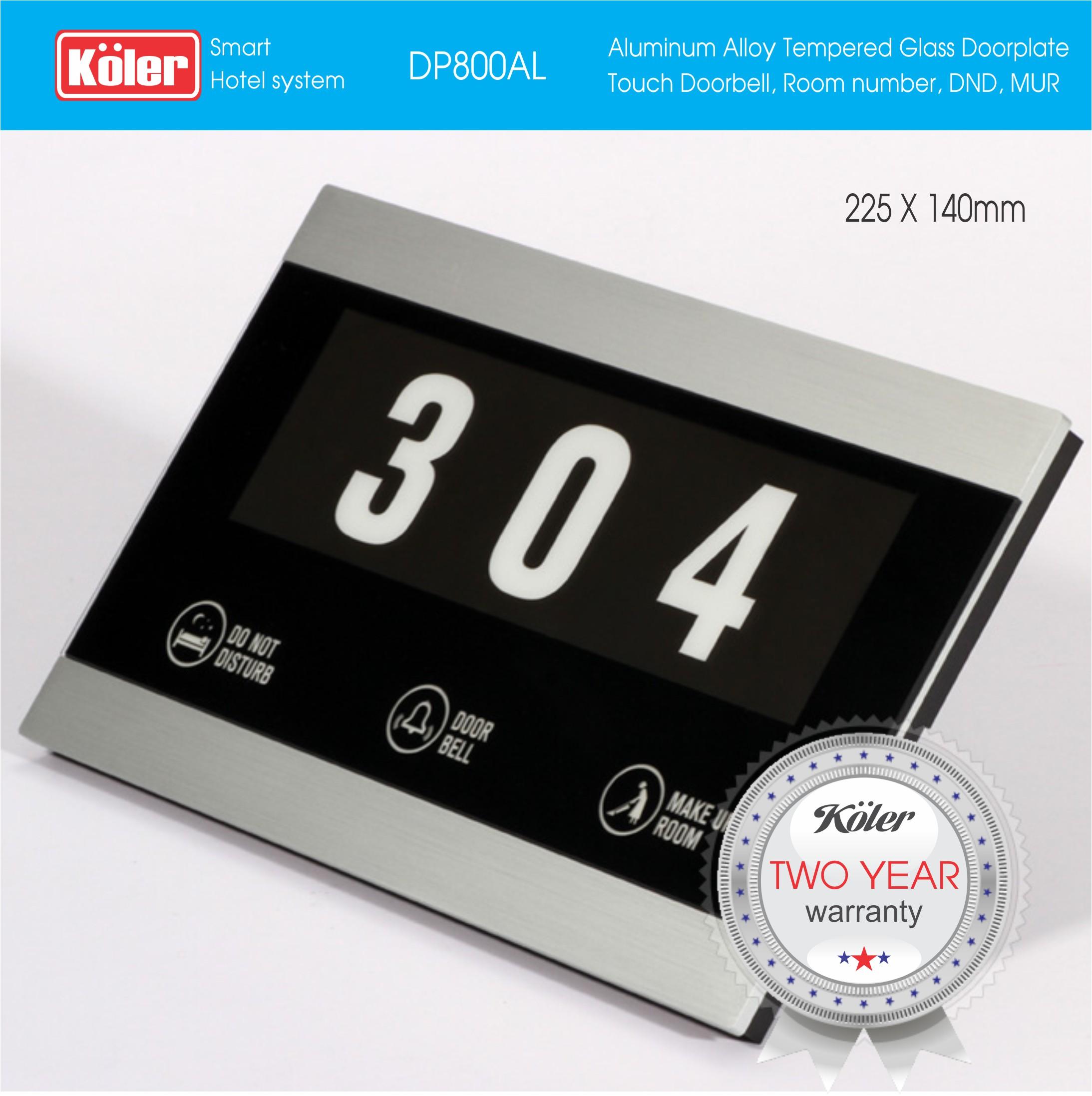 Doorplate Temper Glass LED DP800AL